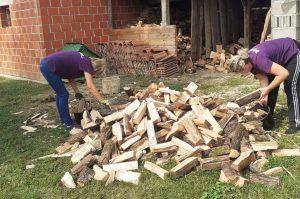 Spremanje drva za zimu